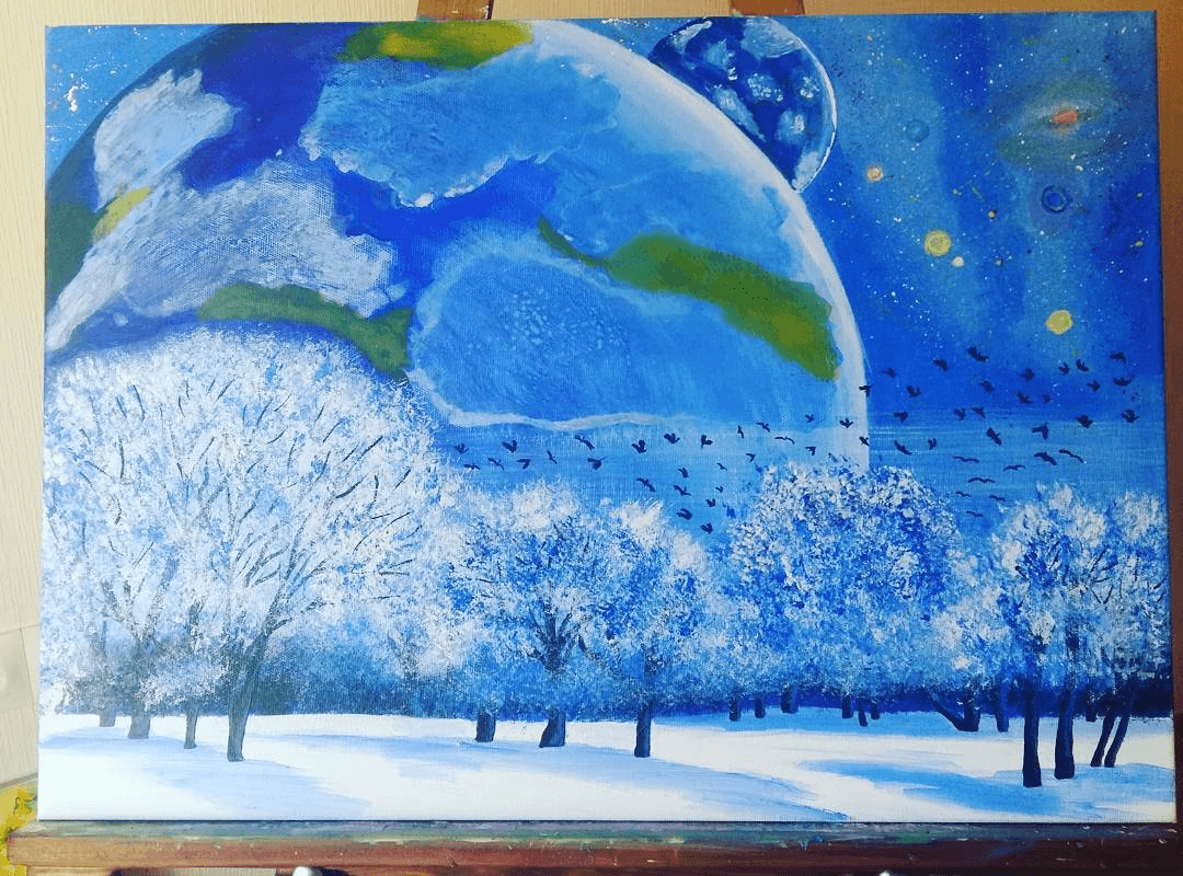 Рисунок Натали Дарк акрилом