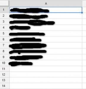 создание таблиц в Google-таблицах