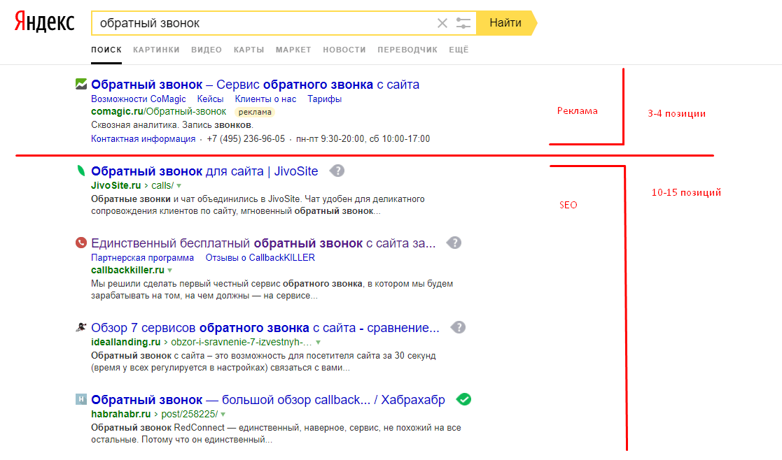 Поисковая выдача