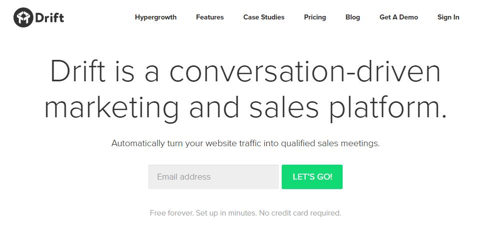 Сайт компании Drift