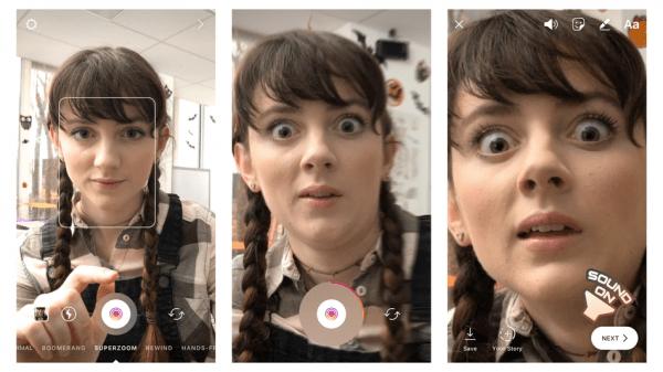 Instagram: новый эффект - Superzoom в Stories