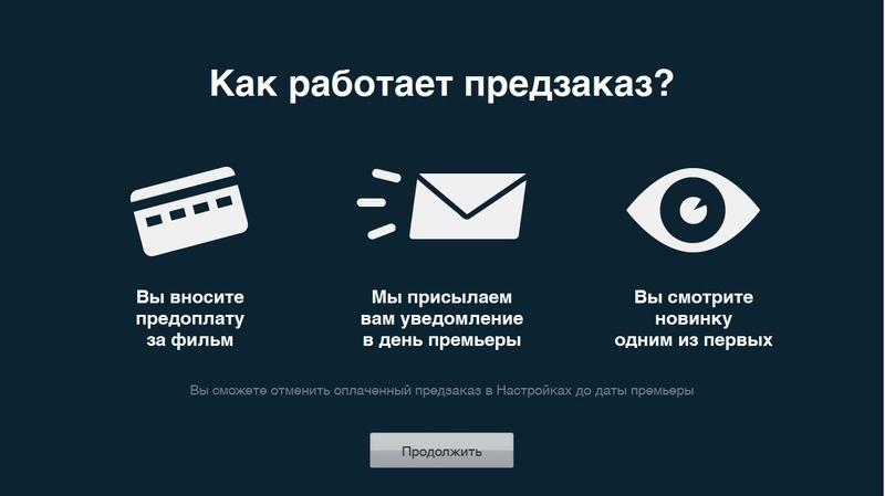 Дайте пользователю возможность оформить предзаказ