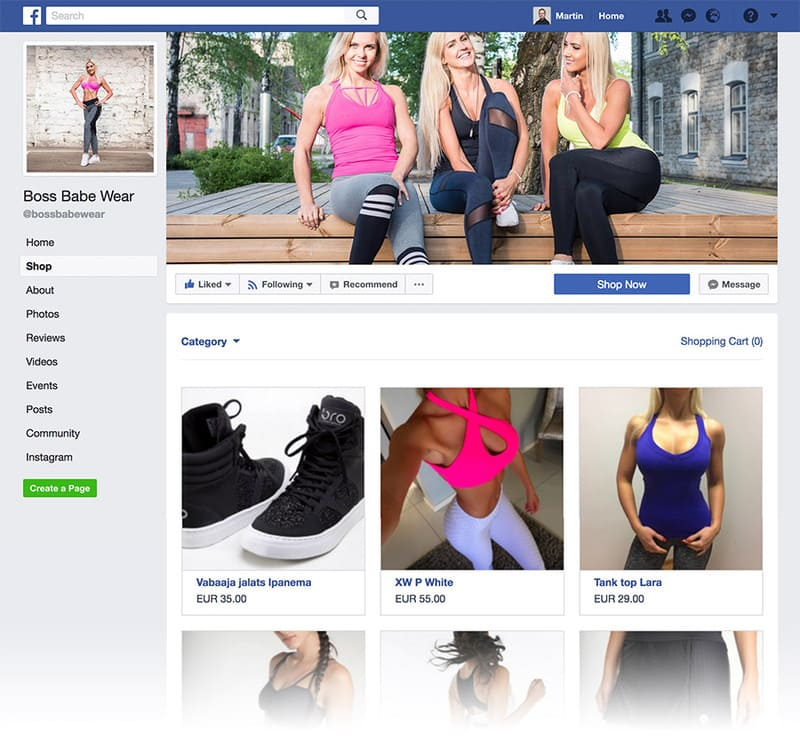 Интеграция Facebook Shop