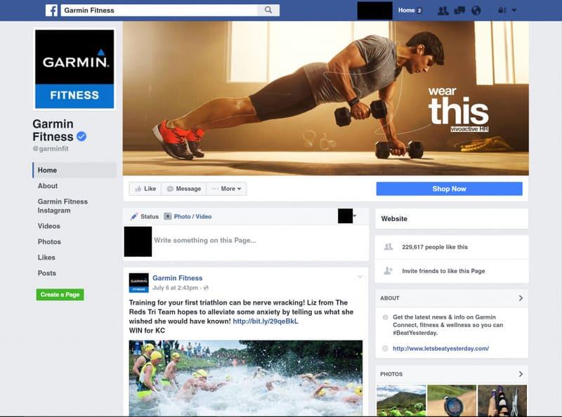 Публикация постов на новой деловой странице в Facebook