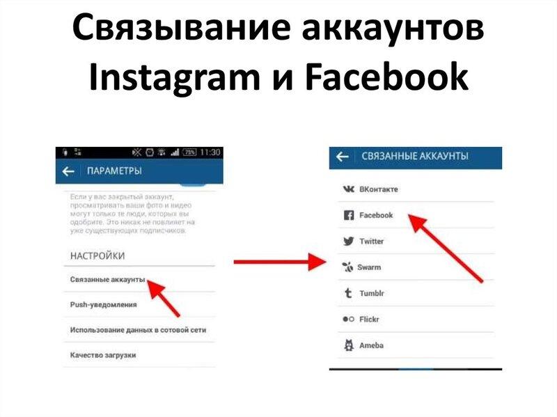 Как связать бизнес-страницу Facebook и Instagram