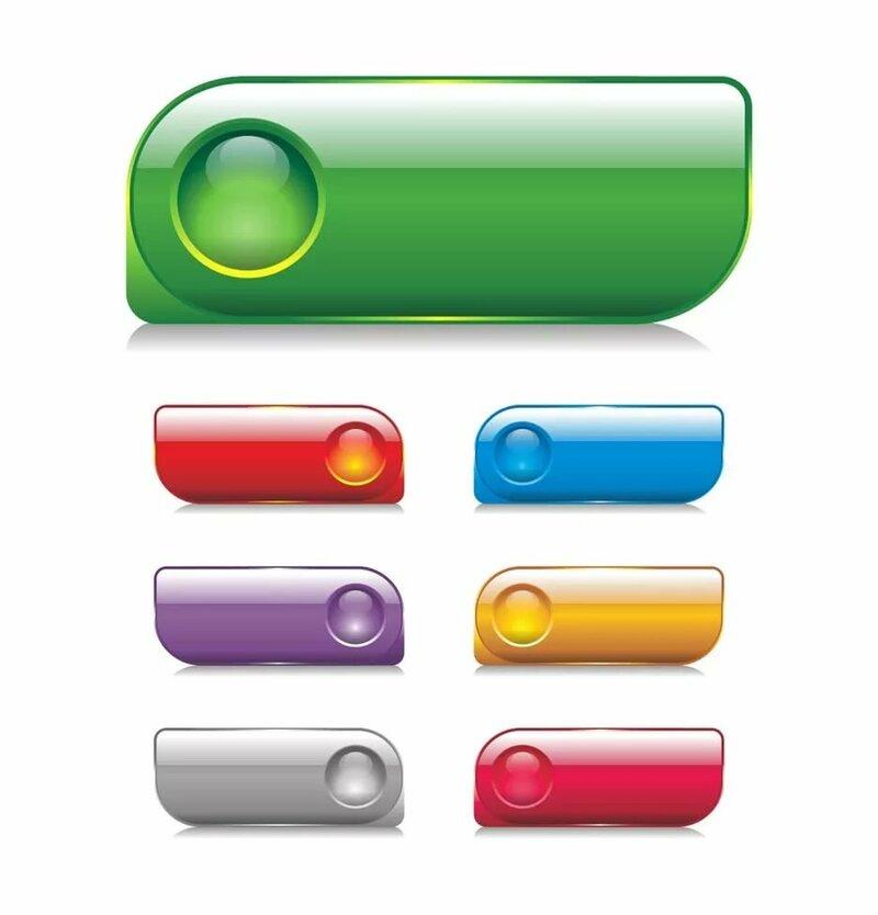 Основные типы кнопок для сайта