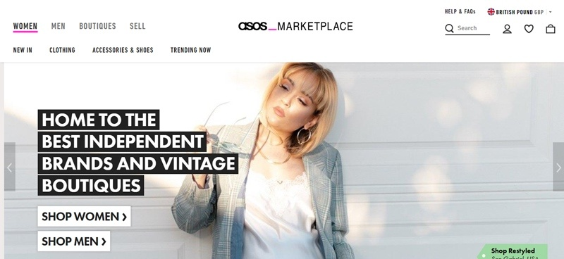 Marketplace.asos.com.